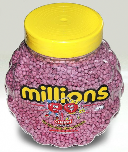 P77 MILLIONS CHERRY JAR 2.27KG (DISCONTINUED /LIMITED STOCK )